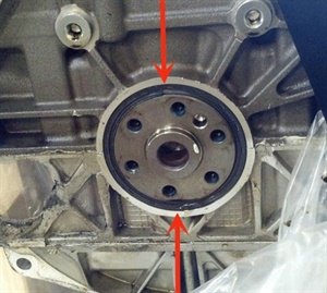 Note the engine rear main seal condition, with sealing lip folded back as a result of excess crankcase pressure.