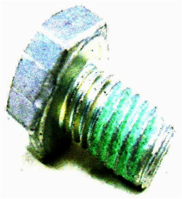 The incorrect bolt is M10 x 1.5 x 15mm, with no washer.