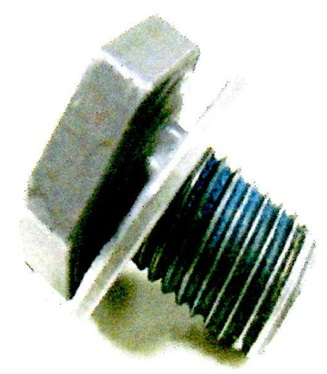 The correct torque converter mounting bolt is M10 x 1.25 x 13.8mm, with a flat washer.
