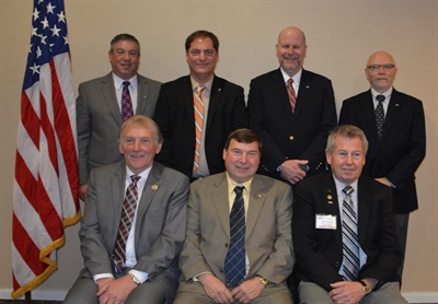 During its recent annual board meeting, ASA elected its 2016-2017 board of directors. Back row (left to right): Roy Schnepper, chairman-elect; Donny Seyfer, chairman; Bill Moss, secretary/treasurer; Darrell Amberson, past chairman. Front row: Ed Cushman, general director; Bob Wills, Mechanical Division director; and John Cochrane, general director. Not pictured: Scott Benavidez, Collision Division director.