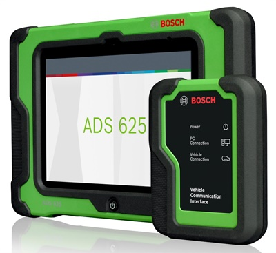 The ADS 625 (pictured) and ADS 325 scan tools are part of Bosch's new Automotive Diagnostic Solutions line.