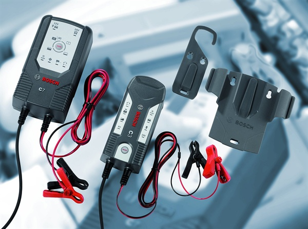 C3 and C7 battery chargers from the Bosch Group offer easy, one-button operation.