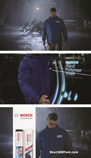 JIm Cantore has signed on to promote Bosch premium wiper blades for the second straight year.