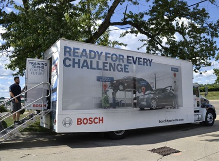 Bosch has added a virtual shop experience focused on training technicians to diagnose and repair gasoline direct injection engines to its Xperience Mobile Tour.