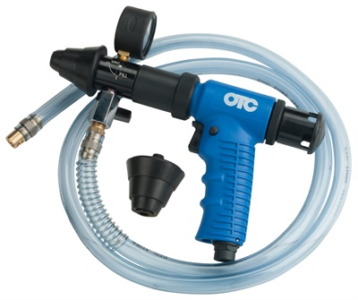 The new OTC tools are cooling system refilling gun (pictured), vacuum/pressure system tester, universal cooling system pressure test kit and test-vac vacuum test kit.