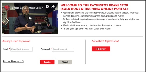 Raybestos' enhanced website offers visitors instant access to how-to videos, technical service bulletins, tips and tricks, customer resources and more.