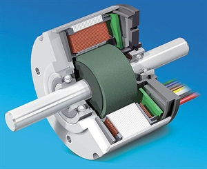 A brushless motor has electromagnets on the stator, permanent magnets on the rotor and some method of reporting the rotor's position to the control unit.