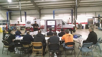 Mark recently hosted a Garage Guru clinic, where he invited a number of local shops to attend.