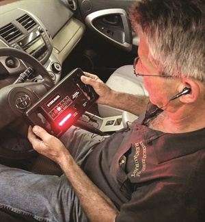 You can monitor suspension noise by checking both audio and visual noise levels.