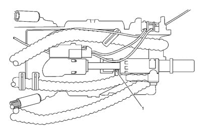 Note the location of the release tab for the RH jet pump.