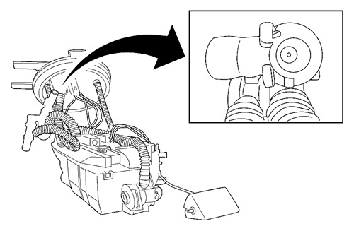 Using a flashlight, inspect the jet pump tube for cleanliness.
