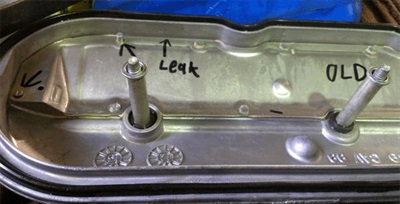 Example of possible PCV baffle leak.