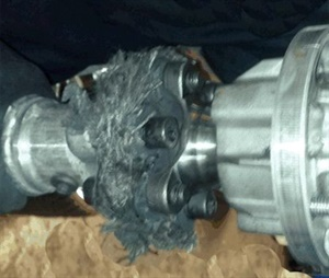 Inspect the torque tube coupling for damage, which can cause random engine misfires and code P0300.