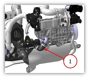 Note the location of the EGR coolant hose.