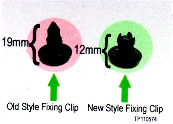 If 19mm clips were installed at the factory, the deflectors may be loose. Replace with the 12mm-long clips.