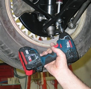 Cordless electric tools are ideal for working in tight spaces or when dragging an air hose isn't preferred.