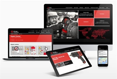 The Chicago Pneumatic website has been designed for ease of use and speed of access regardless of whether it is browsed from a laptop, desktop, tablet or mobile phone.