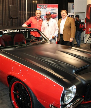 """Brian Williams from Lynchburg, Va., is the grand prize winner of the Raybestos brand 1971 Chevrolet Camaro RS """"G-Machine"""" featuring the new Element3 brake pads."""