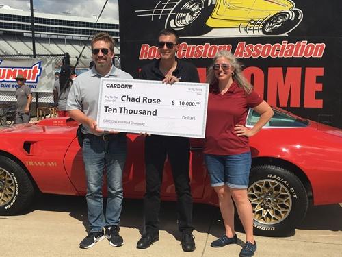 Chad Rose from Salt Lake City, Utah, won the 1977 Firebird Trans Am.