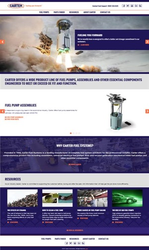 Carter's new website serves as a comprehensive resource for information on the company's entire line of products.