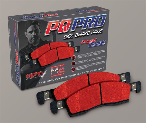 Centric Parts says new PQ Pro by Posi Quiet brake pads feature advanced friction compounds and hardware specially engineered to restore brake system performance and eliminate noise.