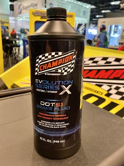 New Champion EVolution X DOT 5.1 Brake Fluid is specifically for the needs of electric high-powered vehicles.