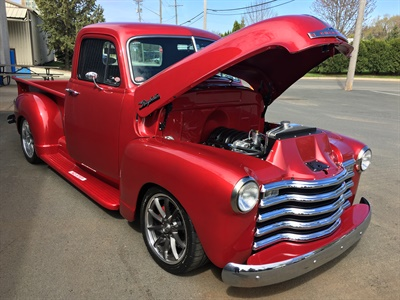 Charles Ruder was the winner of this renovated Raybestos 1953 Chevy pickup.