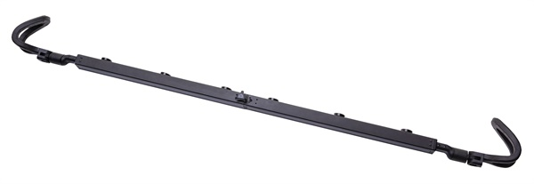 The new Arm-Bar Magnetic Light Bar Mount from Clore Automotive features rubberized hooks to protect the vehicle's surface from scratches.