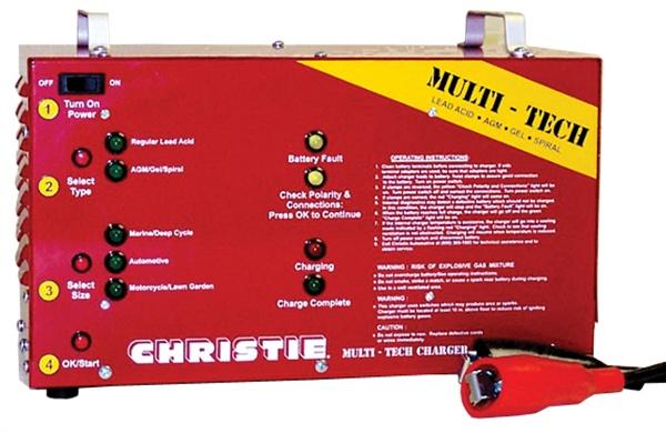 Clore Automotive Inc. has introduced the Christie Model MTC20612 six- and 12-volt  multi-tech diagnostic pulse charger.