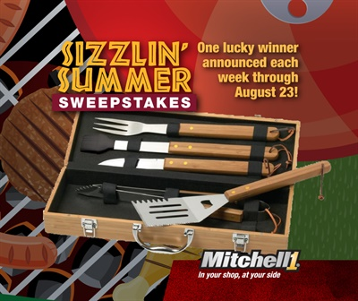 "Mitchell 1's ""Sizzlin' Summer Sweepstakes"" is running now through Aug. 23, 2019."