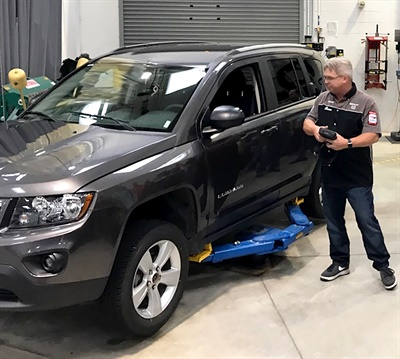 Here Continental Corp.'s Tire Industry Association (TIA) and National Institute for Automotive Service Excellence (ASE) Certified Training Specialist Sean Lannoo conducts a relearn. Courtesy of Continental Corp.