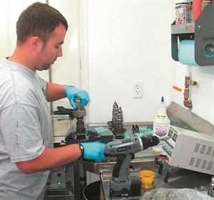 This technician at Unlimited Diesel specializes in rebuilding and modifying Ford Powerstroke diesel fuel injectors. This is a popular and profitable service to consider adding for both daily drivers and performance customers.
