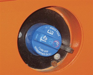 Industry-wide, all DEF fill points are easily identified by a blue cap, labeled for diesel exhaust fluid. It's a good idea to remind customers not to confuse the blue DEF caps for windshield washer solvent locations.