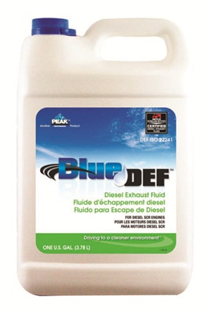 Typical consumer size DEF one-gallon containers are the most common size found in auto parts stores/retailers.