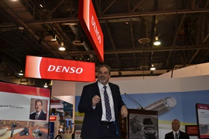 Dan Mejaly, senior vice president of sales, marketing, strategic planning and operations for Denso unveiled the company's VehicleMRI program.