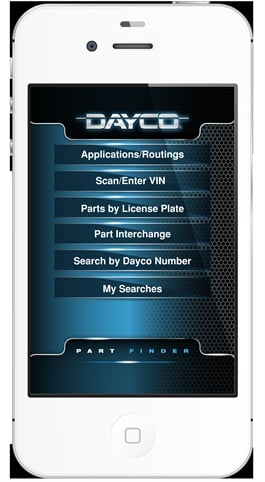 Dayco's VIN scanning parts look-up smartphone app has received a silver award from the National Catalog Managers Association.