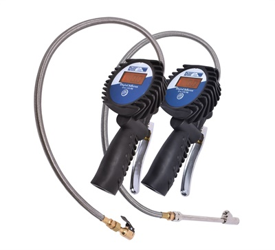 Dill says the new 7260 digital inflator with stainless steel hose makes inflating tires easy.