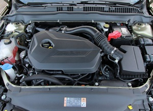 The Ford EcoBoost features an electronically controlled thermostat.