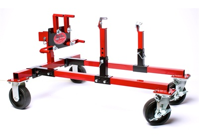 The Easy Run Engine Dolly adapts to mount Chrysler, Ford and GM big block and small block V8 engines, straight 6 and 8 cylinder engines, import engines and many others.