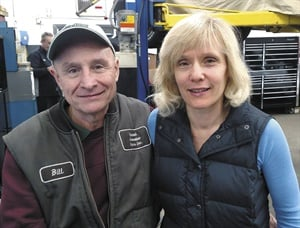 United Automotive Service owner Bill Caroniti. A photo of Bill and his wife, Laurie,