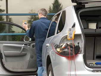 Remote systems are available that allow you to monitor readings with the meter connected to your test site and while you're at the driver seat, engine bay, etc., eliminating the need for a helper.