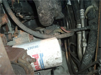 Alternator access can be gained from underneath. Removing the oil filter increases access