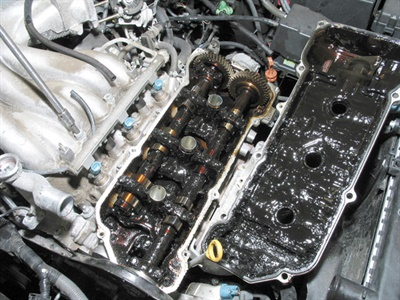 If a skeptical customer needs proof of the need for maintaining engine oil quality, show them this photo. This neglected engine built up so much sludge that it starved itself to death, the result of a clueless owner who ignored a simple oil change for 50,000 miles. She now faced two options: have the engine completely rebuilt or have it replaced, neither of which was in her budget. She had nobody to blame but herself.