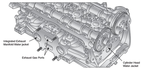 Figure 1: Exhaust manifold 2013 Ford Focus. (Courtesy of Napa Autotech)