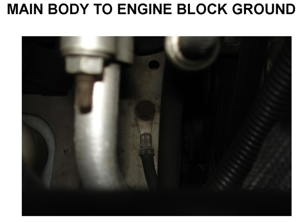 Figure 6: In this example, the block is grounded to the body via a ground cable. Tests revealed that the ground connection was faulty.
