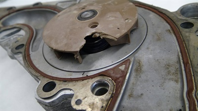 Figure 6: Broken water pump impeller. (Courtesy of Napa Autotech)