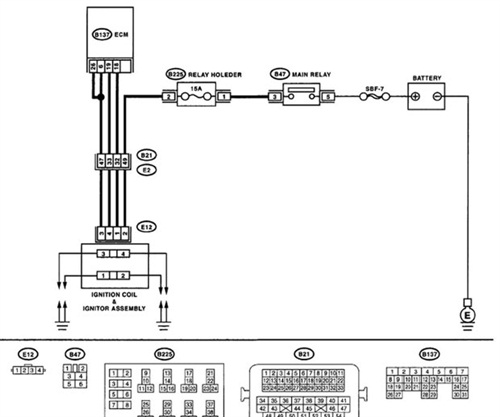 Figure 7: An OE wiring diagram on Mitchell 1 ProDemand assists the service technician in knowing where to check primary ignition on this vehicle.