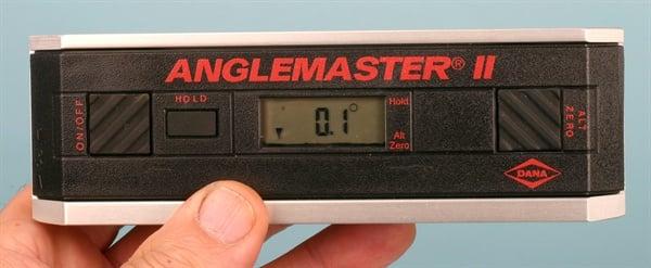 Anglemaster II driveline inclinometer.