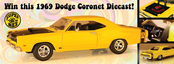 Federated is giving away limited edition Federated 1969 Dodge Coronet Super Bee diecasts.
