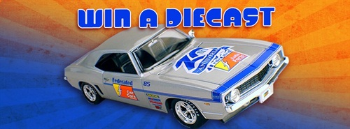 Federated Auto Parts will give away five limited edition 1969 Chevrolet Camaro diecasts to its loyal Facebook fans.